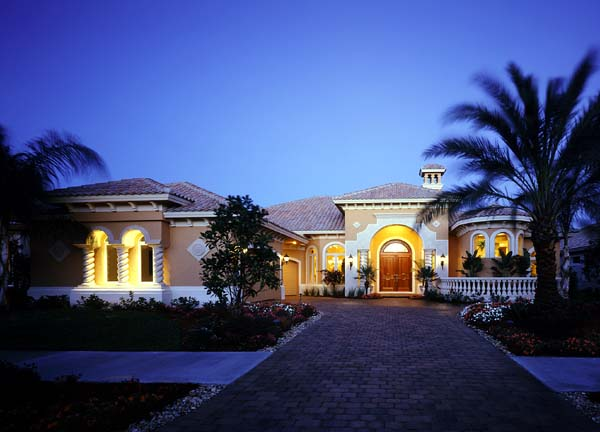 Florida House Plan 58906 with 3 Beds, 5 Baths, 3 Car Garage Elevation