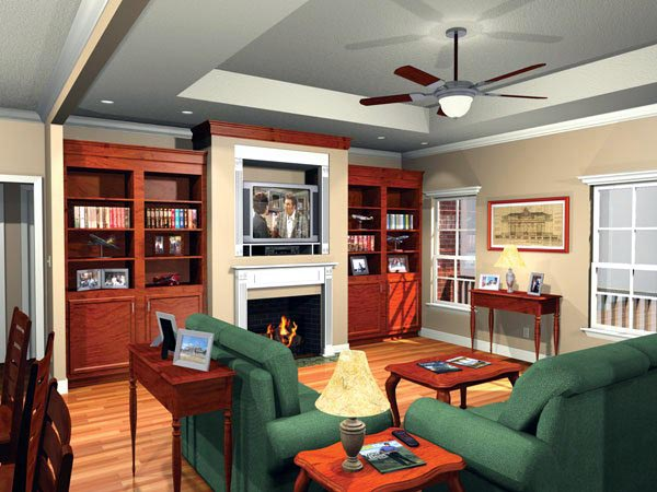 European, Ranch, Traditional House Plan 59011 with 3 Beds, 2 Baths, 2 Car Garage Picture 1