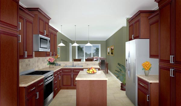 Country, Ranch, Southern, Traditional House Plan 59012 with 3 Beds, 3 Baths, 2 Car Garage Picture 2