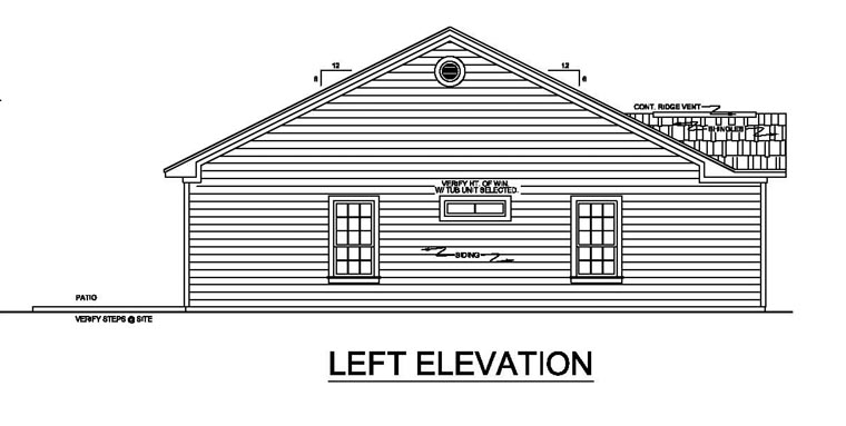 Ranch, Traditional House Plan 59043 with 2 Beds, 2 Baths Picture 1