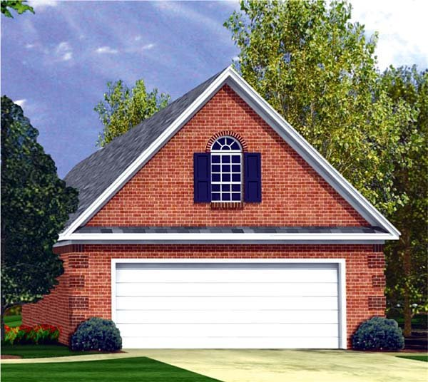 Traditional 2 Car Garage Plan 59076 Elevation