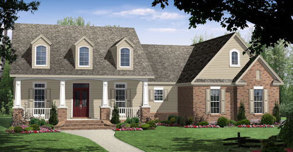 Cape Cod, Craftsman, Traditional House Plan 59104 with 3 Beds, 2 Baths, 2 Car Garage Elevation
