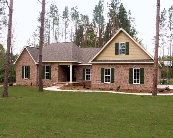 European, Ranch, Traditional House Plan 59112 with 4 Beds, 3 Baths, 2 Car Garage Front Elevation