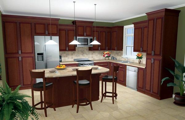 Country, Traditional Plan with 2000 Sq. Ft., 3 Bedrooms, 3 Bathrooms, 2 Car Garage Picture 5