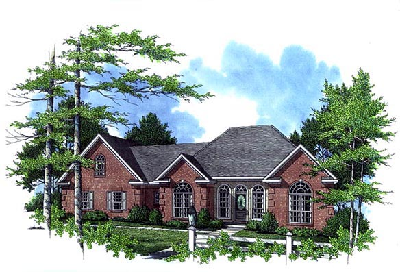 Country, European, French Country, Traditional House Plan 59129 with 3 Beds, 3 Baths, 2 Car Garage Front Elevation