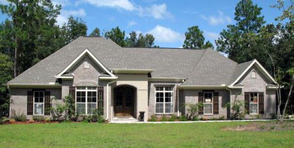 European, French Country, Traditional House Plan 59143 with 3 Beds, 3 Baths, 2 Car Garage Picture 1