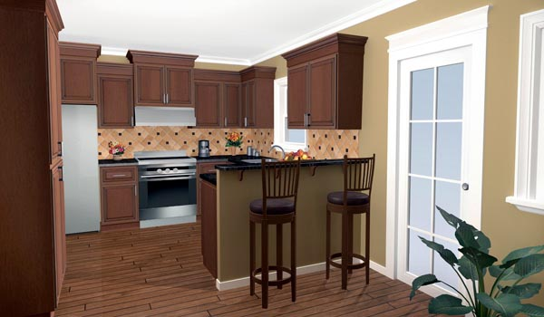 Bungalow, Craftsman Plan with 1509 Sq. Ft., 3 Bedrooms, 2 Bathrooms, 2 Car Garage Picture 5