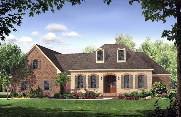 Country, European, French Country, Southern House Plan 59157 with 4 Beds, 4 Baths, 2 Car Garage Elevation
