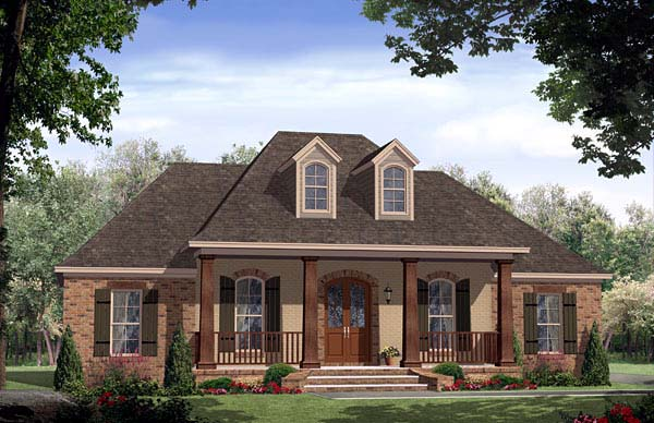 European, French Country, Tuscan House Plan 59167 with 4 Beds, 3 Baths, 2 Car Garage Front Elevation