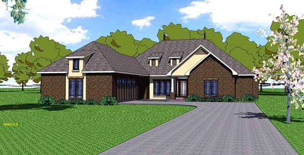 Contemporary, Florida, Southern House Plan 59302 with 4 Beds, 4 Baths, 2 Car Garage Elevation