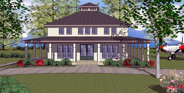 Cottage, Florida, Southern House Plan 59304 with 3 Beds, 4 Baths Elevation