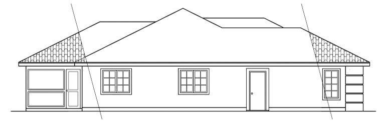 Mediterranean, Ranch House Plan 59437 with 3 Beds, 2 Baths, 2 Car Garage Picture 1
