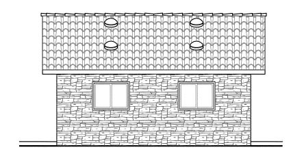 Country 1 Car Garage Plan 59440 Picture 1