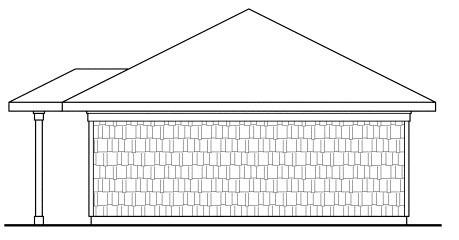 Craftsman, Traditional 2 Car Garage Plan 59445 Rear Elevation