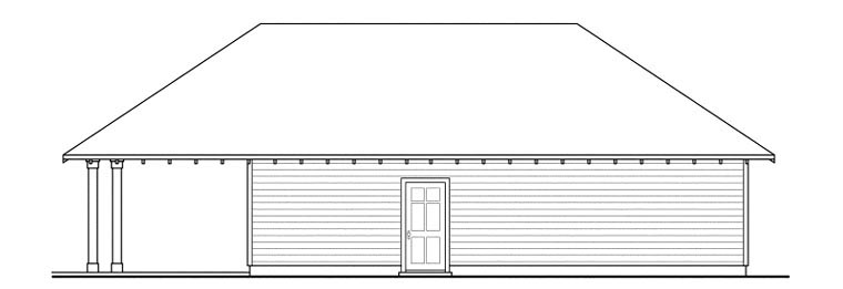 Craftsman 3 Car Garage Plan 59456 Rear Elevation