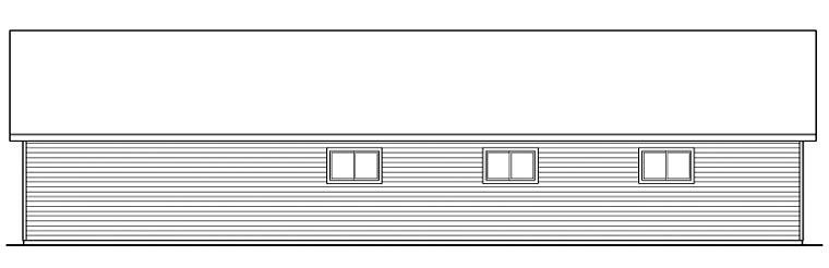 Traditional 8 Car Garage Plan 59459 Rear Elevation