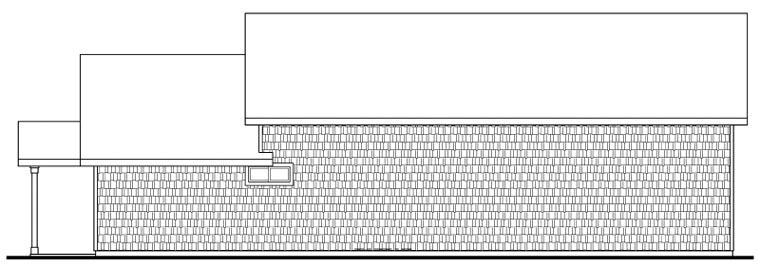 Craftsman 3 Car Garage Plan 59464 Rear Elevation