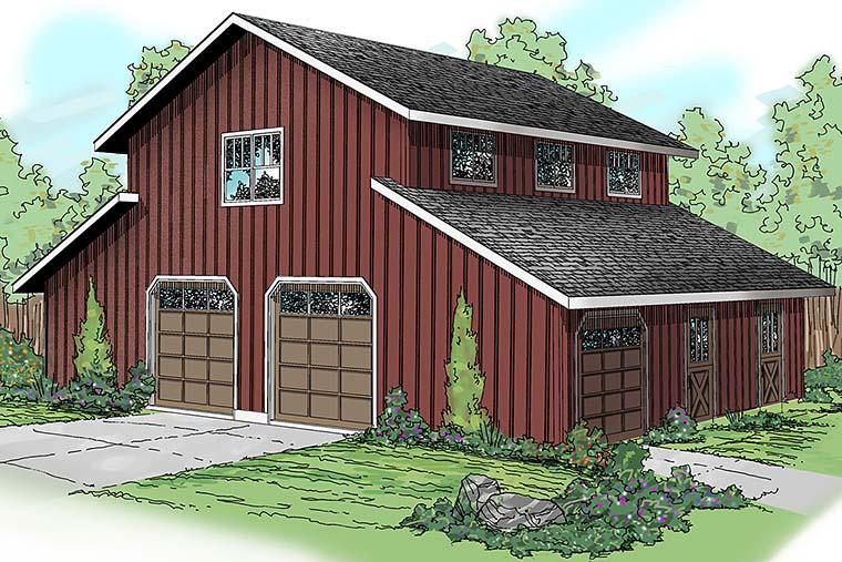 Country 0 Car Garage Apartment Plan 59474 Elevation
