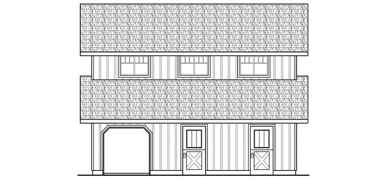 Country 0 Car Garage Apartment Plan 59474 Picture 2