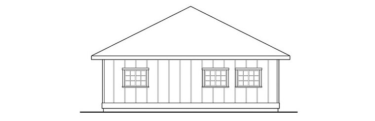 Contemporary, Traditional 3 Car Garage Plan 59477 Picture 1