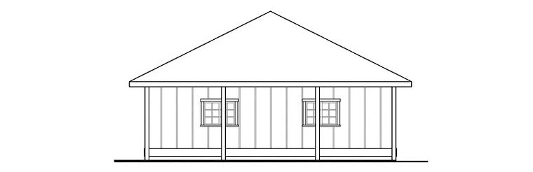 Contemporary, Traditional 3 Car Garage Plan 59477 Picture 2