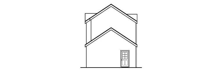 Contemporary, Florida, Mediterranean, Southwest House Plan 59497 with 3 Beds, 3 Baths, 2 Car Garage Rear Elevation