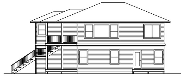Contemporary, Florida House Plan 59720 with 2 Beds, 3 Baths, 1 Car Garage Picture 2