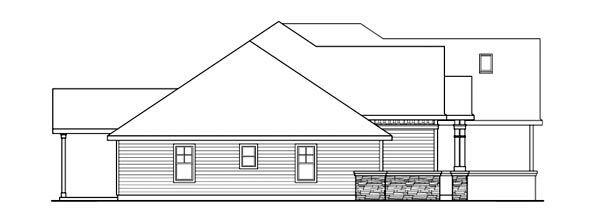 Cottage House Plan 59737 with 3 Beds, 3 Baths, 3 Car Garage Picture 1