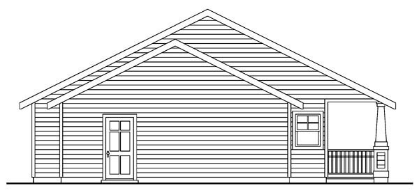 Cottage, Country, Craftsman, Ranch House Plan 59754 with 3 Beds, 2 Baths, 2 Car Garage Rear Elevation