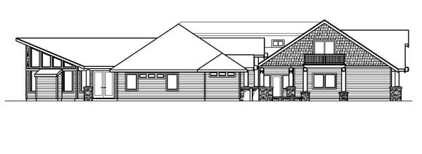 Craftsman, Southwest House Plan 59758 with 4 Beds, 5 Baths, 3 Car Garage Picture 1