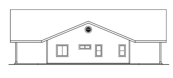 Contemporary, Ranch House Plan 59760 with 3 Beds, 3 Baths, 2 Car Garage Picture 2