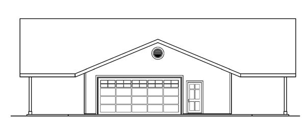 Contemporary, Ranch House Plan 59760 with 3 Beds, 3 Baths, 2 Car Garage Picture 1