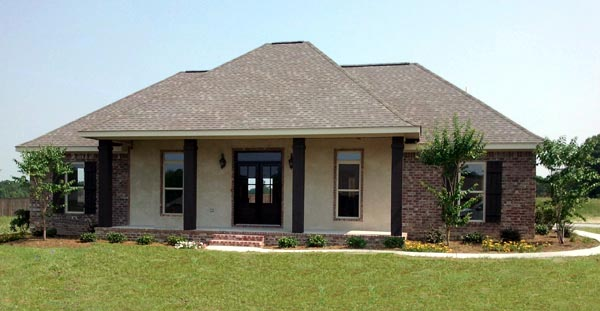 Country, Traditional House Plan 59936 with 3 Beds, 2 Baths, 2 Car Garage Picture 1