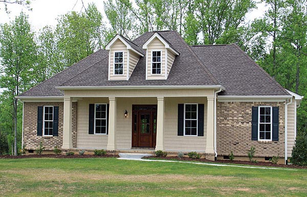 Country, European, French Country House Plan 59937 with 3 Beds, 2 Baths, 2 Car Garage Picture 8