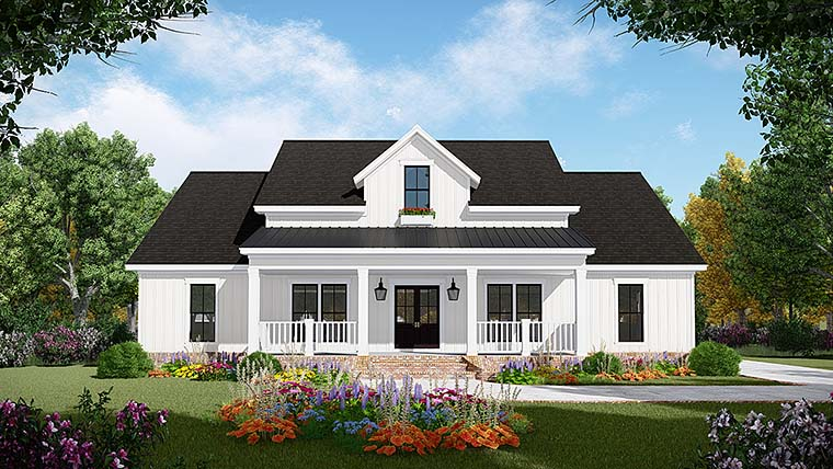 Country, Farmhouse, Ranch, Southern House Plan 59995 with 3 Beds, 3 Baths, 2 Car Garage Elevation
