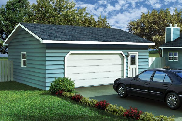 Ranch, Traditional 2 Car Garage Plan 6004 Elevation