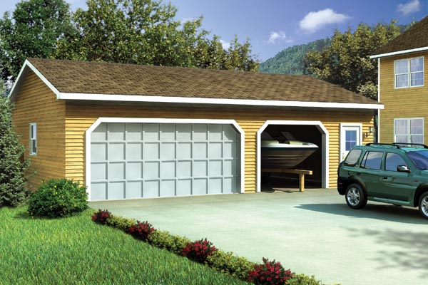 Country, Ranch, Traditional 3 Car Garage Plan 6006 Elevation