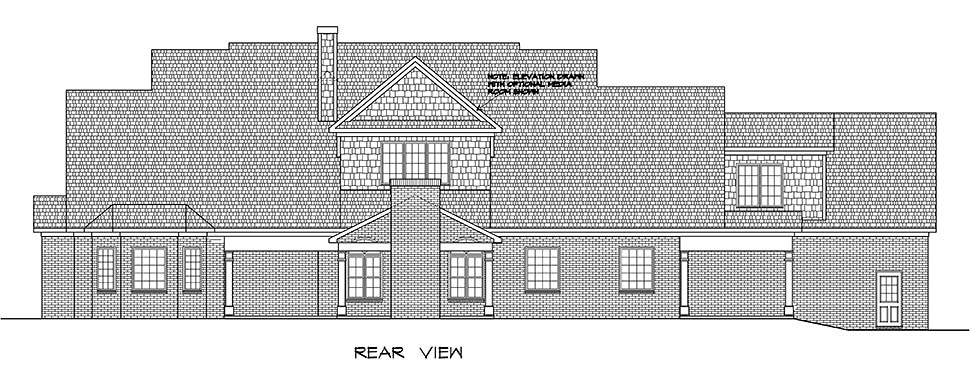 Craftsman, Traditional House Plan 60066 with 4 Beds, 5 Baths, 3 Car Garage Rear Elevation