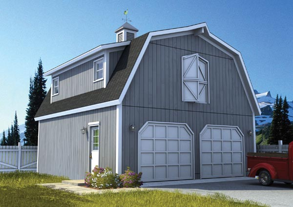 Country, Farmhouse 2 Car Garage Plan 6007 Front Elevation