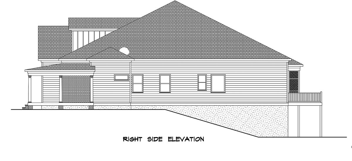 Farmhouse House Plan 60076 with 4 Beds, 4 Baths, 3 Car Garage Picture 1