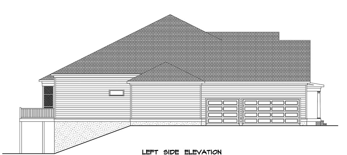 Farmhouse House Plan 60076 with 4 Beds, 4 Baths, 3 Car Garage Picture 2