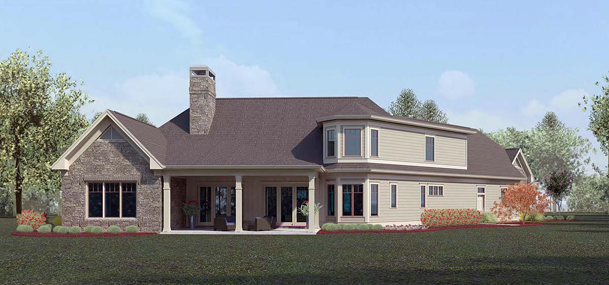 Craftsman, Ranch House Plan 60085 with 4 Beds, 4 Baths, 3 Car Garage Picture 1