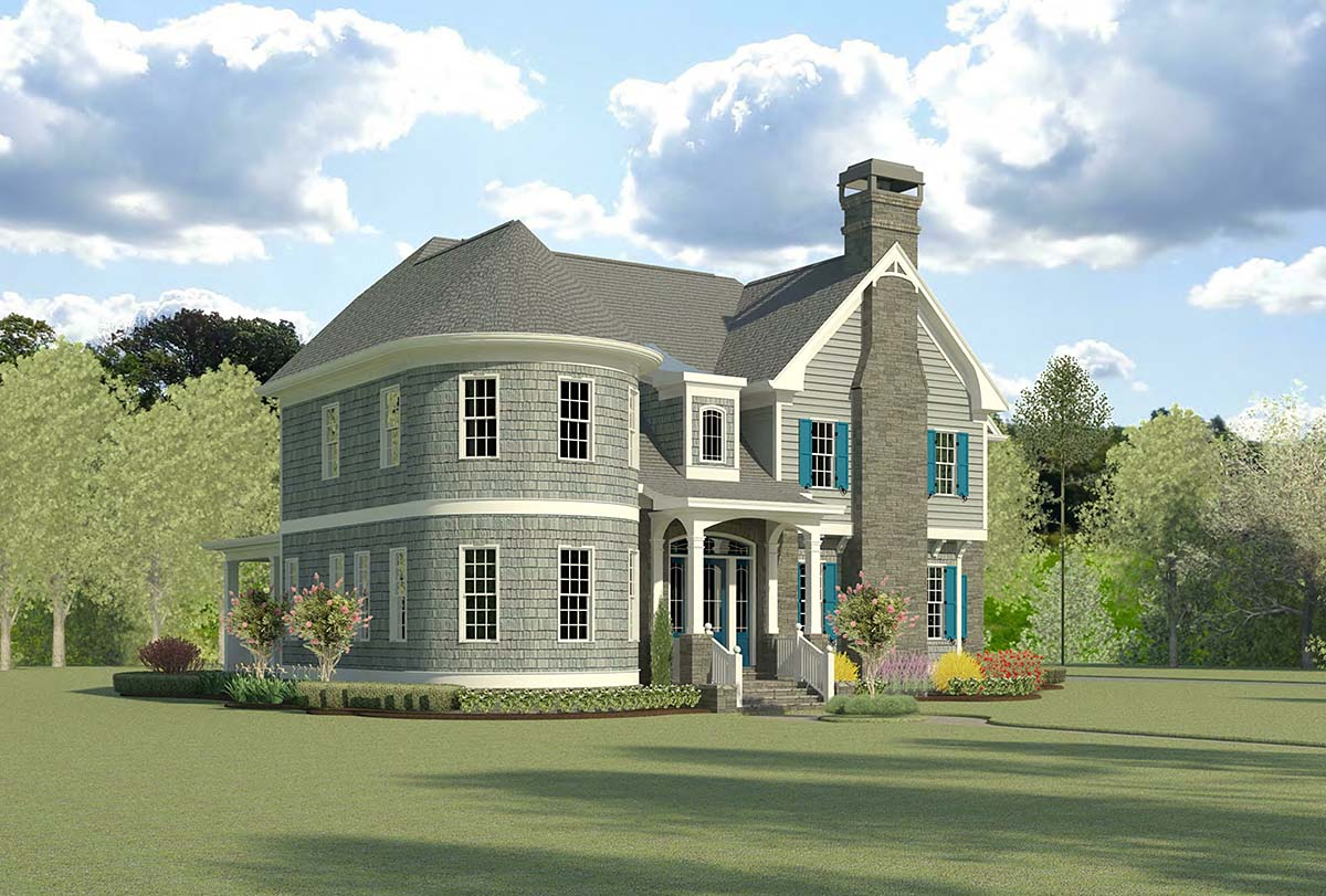 Cape Cod, French Country, Traditional House Plan 60090 with 4 Beds, 5 Baths, 3 Car Garage Picture 2