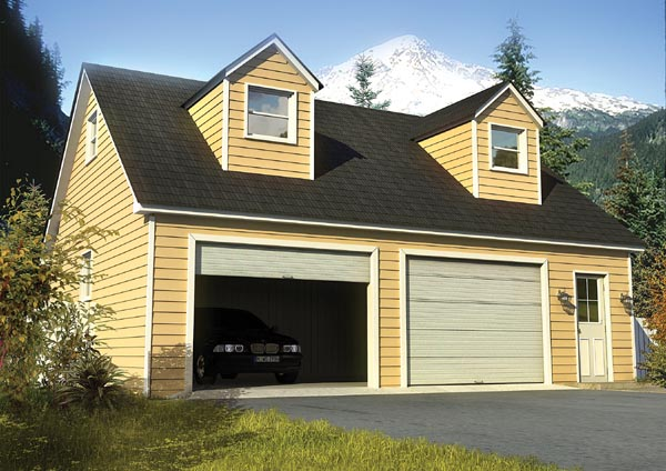 Cape Cod, Country, Traditional 2 Car Garage Plan 6010 Front Elevation