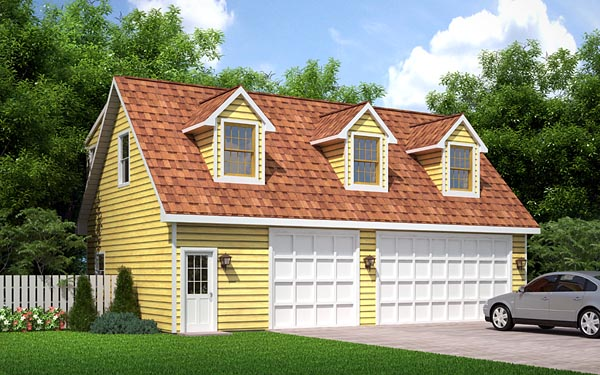 Cape Cod, Traditional 3 Car Garage Apartment Plan 6026 with 2 Beds, 1 Baths Front Elevation