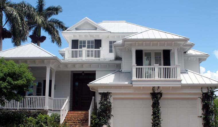 Coastal House Plan 60514 with 4 Beds, 7 Baths, 2 Car Garage Elevation
