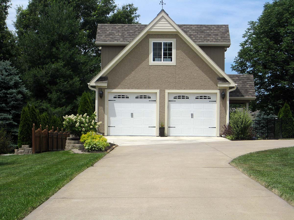 Cottage, French Country, Traditional 2 Car Garage Apartment Plan 60684 Elevation