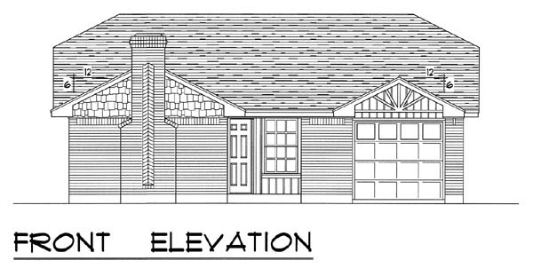 Country, Ranch, Traditional House Plan 60800 with 3 Beds, 2 Baths, 1 Car Garage Picture 3