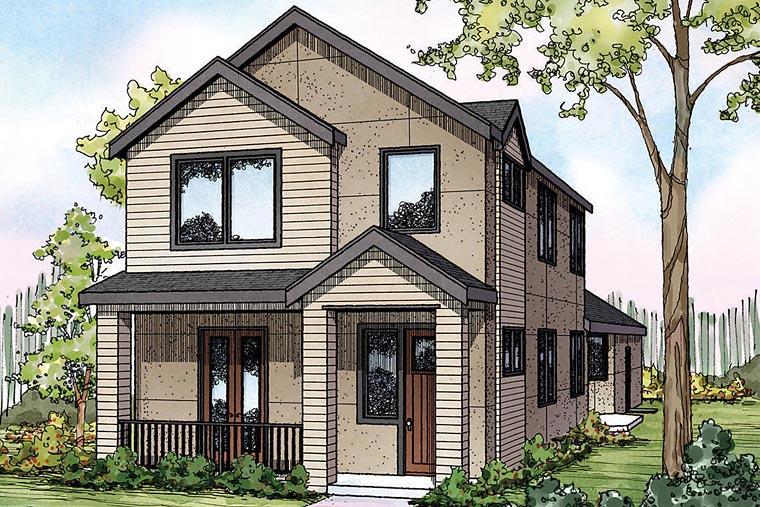 Contemporary, Florida, Southwest, Traditional House Plan 60927 with 3 Beds, 3 Baths, 2 Car Garage Elevation