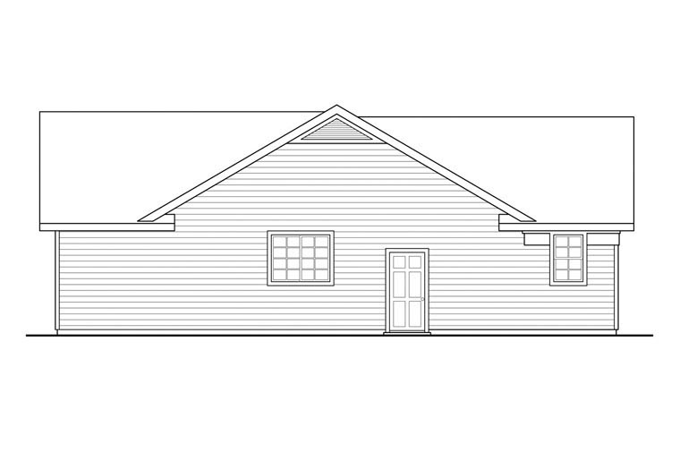 Contemporary, Country, Prairie, Ranch House Plan 60950 with 3 Beds, 2 Baths, 2 Car Garage Picture 1